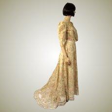 Delicately Beautiful Victorian Women's Three-Piece Ensemble