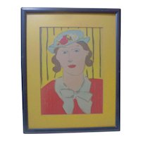 Henri Matisse Femme au Chapeau lithograph woman with a hat
