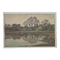 "Hiroshi Yoshida  (1876 -1950) Japanese ""YOSHIKAWA"" posthumously printed  woodblock print"