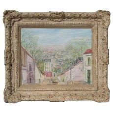 JOHANNES SCHIEFER (1896-1979) listed artist artist impressionist Paris Montmartre oil painting