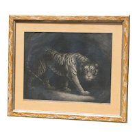 "Rare 1790 ""A Tiger"" mezzotint print after painting of James Northcote (1746 -1831) British artist"