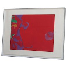 """Patrick Heron (1920 - 1999) English well listed artist color lithograph """"Morning Reds"""""""