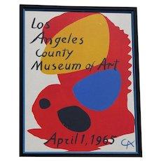 Alexander Calder (1998 -1976) LACMA poster 1965 lithograph