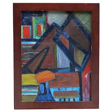 Abstract contemporary painting  signed De Nor Paris