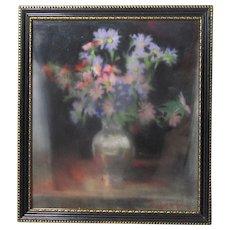 Winifred E. Harris Jones English California artist still life pastel painting