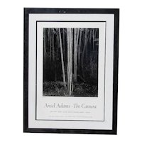 "Ansel Adams (1902 -1984) American photographer original limited edition signed poster ""Aspens Northern New Mexico, The Camera 1958"""