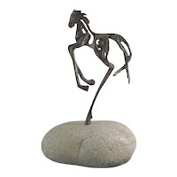 "Sandy Graves contemporary artist modern bronze sculpture of horse ""Rossli"" 2009"