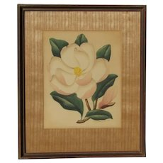 Shirrell Graves (1886-1954) American California listed artist original watercolor painting of Hawaii flower