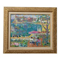 Antonio Sereix Codina  (1931 - 2009) Spanish listed artist original colorful impressionist oil painting 1976