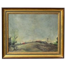 George Chann (1913 -1995) American - Chinese well listed important artist original night landscape painting