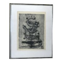 JOHNNY FRIEDLAENDER (1912-1992) German- French 20th century listed artist pencil signed etching 1951
