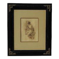 Fernando Cueto Amorsolo  (1892 - 1972) Filipino artist nude woman rotogravure posthumous print Andersen/Lamb 1979