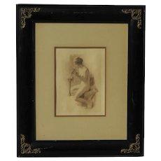 Fernando Cueto Amorsolo  (1892 - 1972)  Philippino artist nude woman rotogravure posthumous print Andersen/Lamb 1979