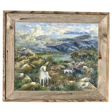 Gordon Kennedy American artist impressionist mountains landscape oil painting with the horses and mountains