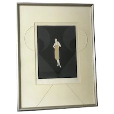 "ERTE (1892-1990) Russian-French artist  ""Manhattan Mary I "" pencil signed and dated lithograph 1979"