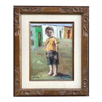 Jose Montanes (1918-1989) Spanish listed artist painting of a happy smiling boy