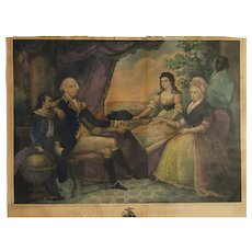 "President George Washington ""The Washington Family"" Engraving after painting by Edward Savage (1789–1796)"