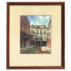 Stuart Archibald 20th century listed artist New Orleans Louisiana art original watercolor painting