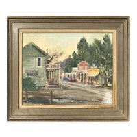 Wilfrid Taylor Mills Old Calabasas street scene Malibu California painting by well listed artist
