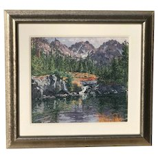 Sheila Gardner American listed artist Sawtooth Tiger Peak at Alice Lake Idaho mountain landscape painting