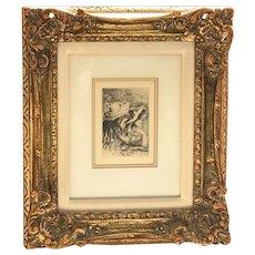 Pierre-Auguste Renoir (1841-1919) French famous impressionist artist etching Le Chapeau épinglé