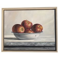 Nela Radomirovic contemporary Serbian artist still life oil painting of apples