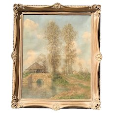 Marcel-Adolphe Bain (1878 - 1937) French listed artist countryside landscape oil painting