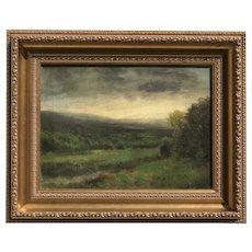 Thomas Bartholomew Griffin (1858-1918) American listed artist rural landscape Hudson River School painting