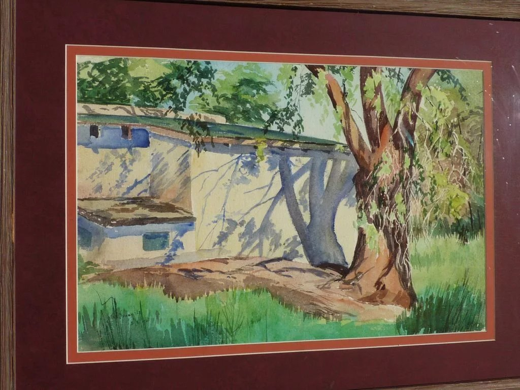 Southwestern American art watercolor painting by New Mexico artist ...