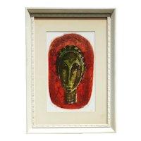 "Mark Freeman (1908- 2003)  noted American artist  lithograph print ""Jungle Idol"""