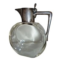 English Heath & Middleton Crystal Sterling Silver Decanter