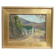 Paul Friederich Weindorf (1887-1965) listed German American artist California landscape oil painting