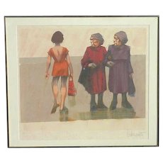 "Aldo Luongo (1940 -) pencil signed limited edition art serigraph print ""Different Point of View"""
