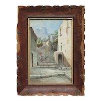Andrea Cherubini (1833 -1905) Italian late 19th century watercolor painting