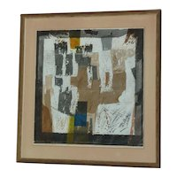 Seang Moy (1921 - 2013) Chinese - American listed artist modern abstract color lithograph signed in pencil