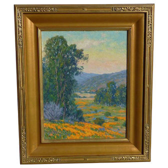 Gary Ray (1952-) Impressionist California plein air landscape oil painting by contemporary artist