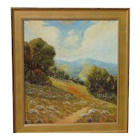 Raymond Vale landscape painting California plein air circa 1930 likely Mount Tamalpais