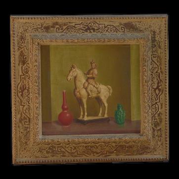 Stanislaus (Stan) Pociecha Poray (1888 -1948) Polish - American well listed artist oil painting still life vessels