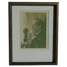 President Richard Nixon signed inscribed photograph