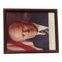 President Gerald Ford hand signed inscribed photograph