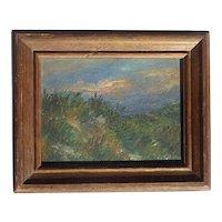 Robert John McClellan American listed artist Sand Dune Sunset Tobay Beach Long Island landscape painting 1946