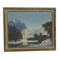 Roger Scott American California listed artist Colorado Hallett Peak mountain landscape painting