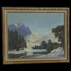 Roger Scott American California listed artist Colorado Hallett Peak mountain landscape painting