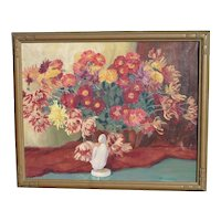 Thelma Paddock Hope (1898 - 1991) American California Indiana listed artist still life flowers painting