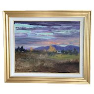 Donald Crocker oil painting of rural Idaho landscape by gallery artist