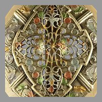 Stunning Art Nouveau Belt Buckle Large