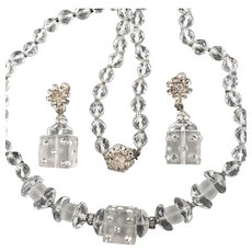 Miriam Haskell Loaded Dice Necklace Earrings Demi Parure