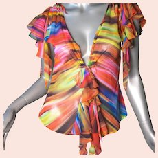Versace Silk Chiffon Blouse Spectacular