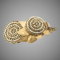 1955 Miriam Haskell Brooch Sublime Detail