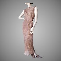 ca 1960's Gold Metallic Adjustable Gown